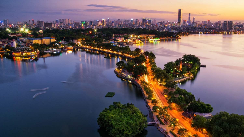 Vista drone di Hanoi HD