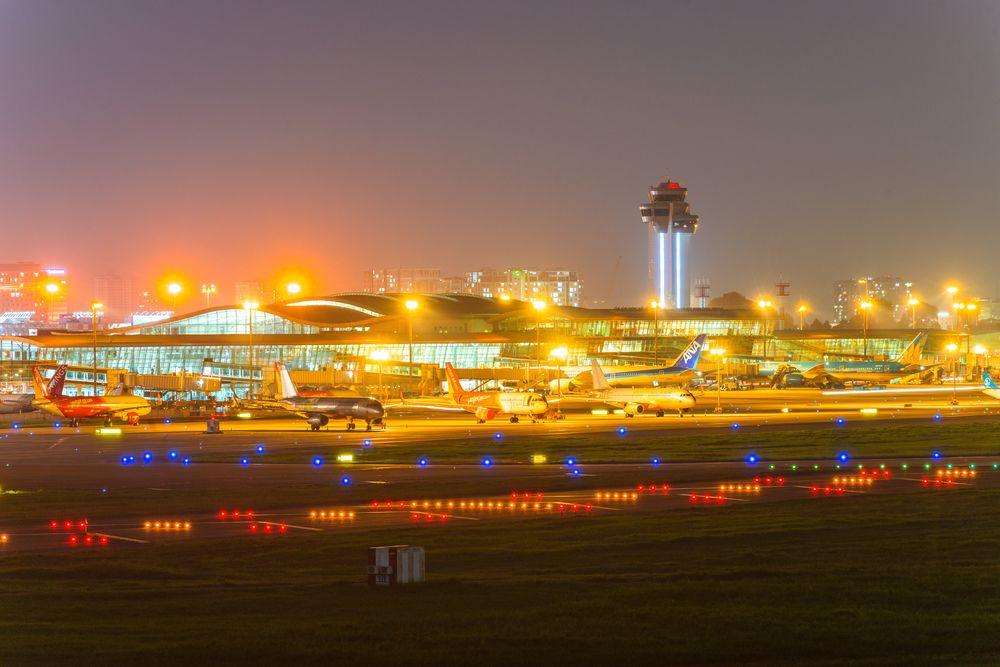 Aeroporto Internazionale di Tan Son a Saigon, Vietnam