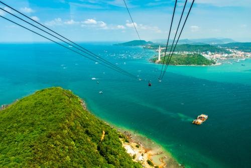 Vista dalla funivia dell'isola di Phu Quoc in Vietnam