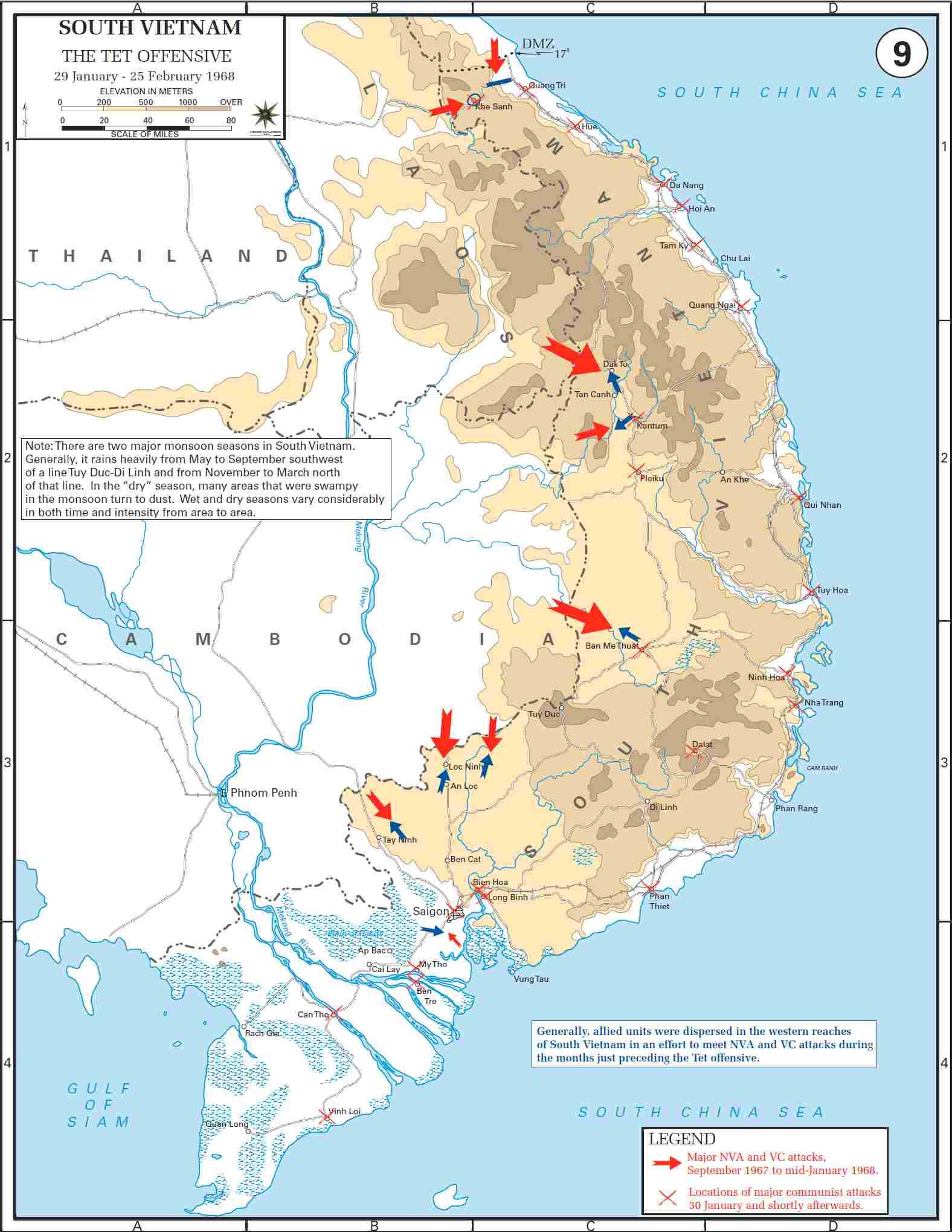 Vacanze in Vietnam mappa offensiva del Tet