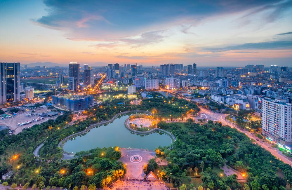 Vista aerea di Hanoi HD